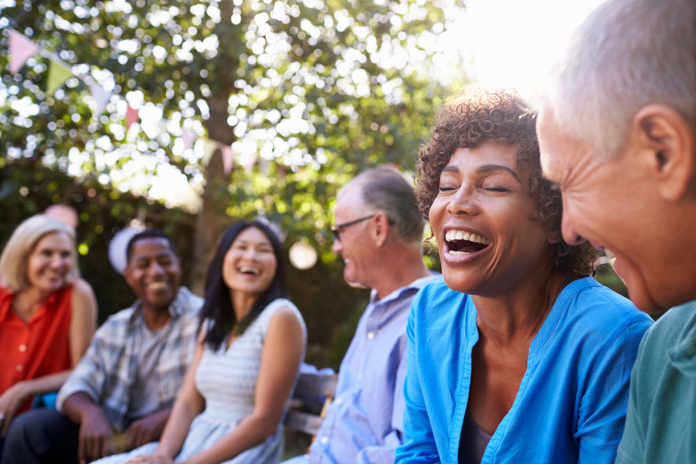 older people laughing   cosmetic dentistry north bethesda md