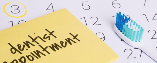 North Bethesda Dentist - Appointment reminder note
